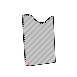 "Cushioned slim pocket for 11"" laptop (<1.5 cm thick)"