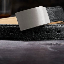 full metal buckle - brushed steel
